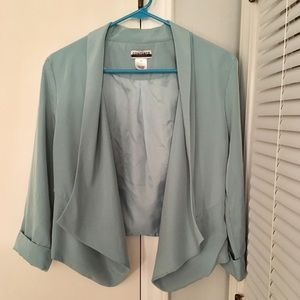 Jackets & Blazers - Women's Seafoam Green Light-weight Blazer Size M